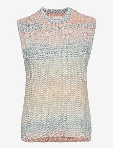 Elsa Knit Vest - strikveste - brunnera blue