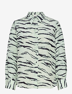 Tiger Shirt - långärmade skjortor - clearly aqua