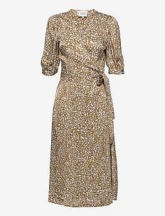 Granada Wrap Dress - sommarklänningar - bronze brown