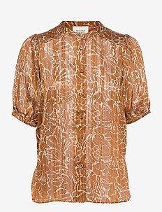 Fijito Shirt - kortärmade blusar - bronze brown