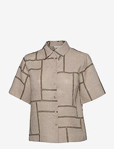 Laval Shirt - kortärmade skjortor - parchment
