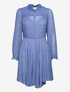 Mano Plisee Dress - sommarklänningar - blue bonnet