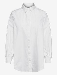 Amina Shirt - långärmade skjortor - white