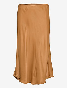 Eddie Skirt - midi kjolar - bronze brown