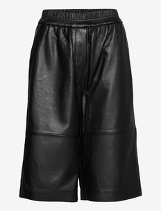 Edie Leather Shorts - casual shorts - black