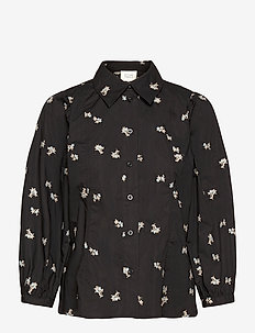 California Shirt - långärmade blusar - black