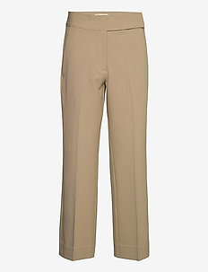 TINE ANDREA & DARJA x SECOND FEMALE Bailey Trousers - raka byxor - humus
