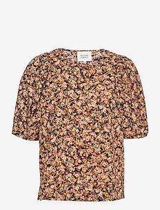 Mayda Blouse - blouses met korte mouwen - toasted nut