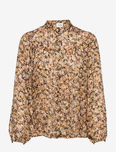 Dagmar Shirt - långärmade blusar - toasted almond