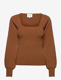 Wendell Knit - tröjor - brown sugar
