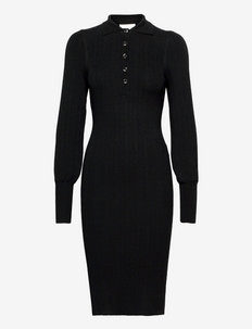 Canillu Knit Dress - etuikleider - black