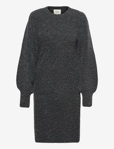 Kalliroi Knit Dress - vardagsklänningar - dark grey melange