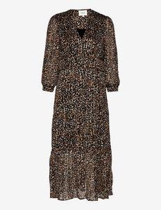 Erna Fitted Dress - sommarklänningar - burnt olive