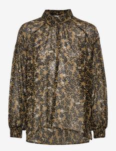 Simone Blouse - blouses met lange mouwen - burnt olive