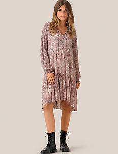 Crayon Short Dress - midi kjoler - eggnog