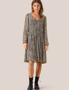 Real LS Short Dress - midi kjoler - black