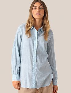 Dominus LS Shirt - langærmede skjorter - chambray blue