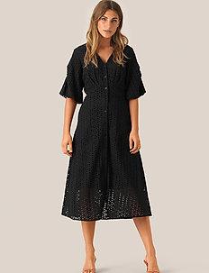Milly SS Dress - midi kjoler - black