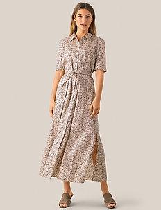 Wing Maxi Dress - skjortekjoler - macadamia