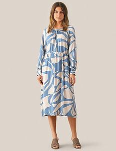 Mala LS Midi Dress - midi kjoler - faded denim