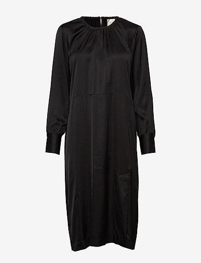 Second Female Claire Ls Midi Dress- Sukienki Black