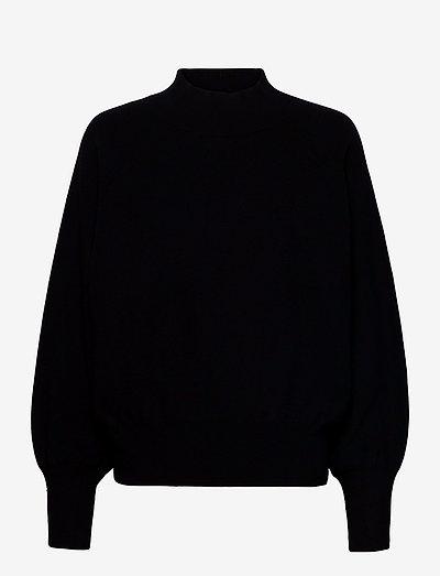 Octavia Knit T-Neck - trøjer - black