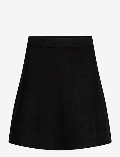 Octavia Knit Skirt - korte nederdele - black