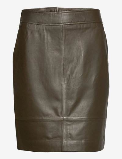 Francie Mini Leather Skirt - pencil skirts - wren