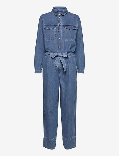 Ingrid Jumpsuit - tøj - blue denim