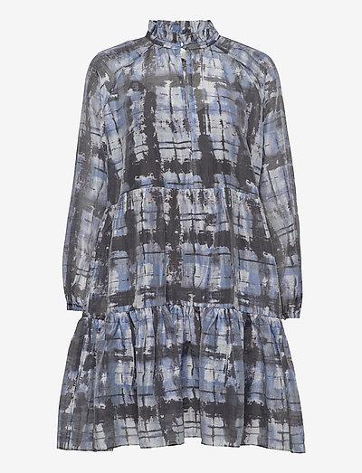 Imprint Dress - summer dresses - blue shadow