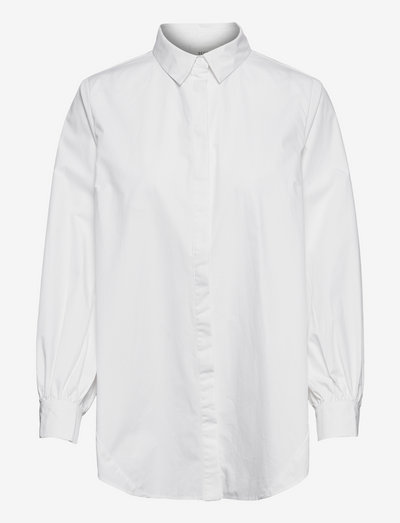 Amina Shirt - jeansskjortor - white