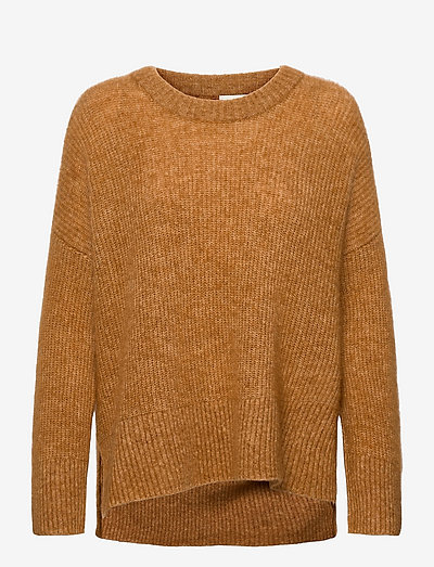 Brooky Knit O-Neck - tröjor - brown sugar