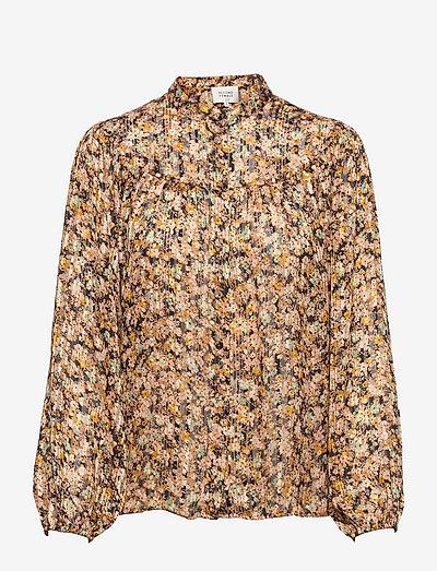 Dagmar Shirt - langærmede bluser - toasted almond