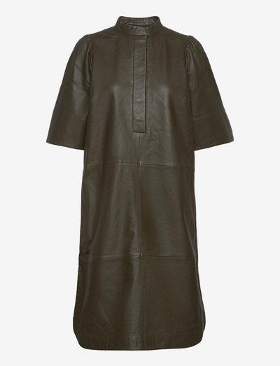 Indie Leather New Dress - hverdagskjoler - wren