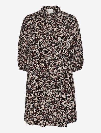 Annie Shirt Dress - sommerkleider - black