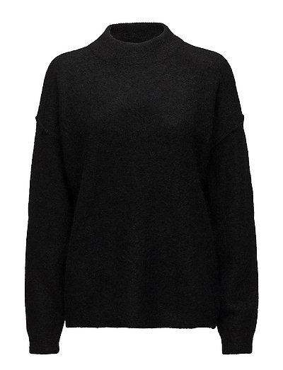 Brook Knit Loose O-neck - BLACK
