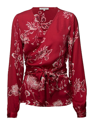 Vicky Wrap Blouse - JESTER RED