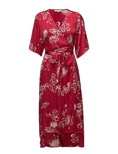 Vicky Wrap Dress - JESTER RED