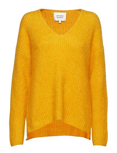 Aloa Knit V-Neck - GOLDEN GLOW