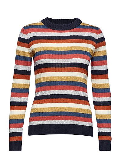 Melis Knit Multi O-Neck - NAVY