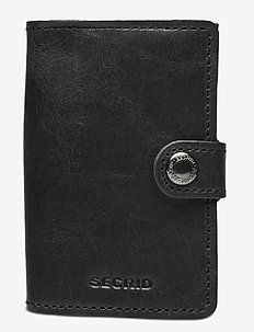 Miniwallet - klasyczny portfel - vintage black