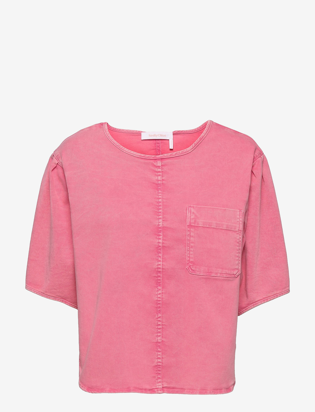 See by Chloé - TOP - blouses met korte mouwen - juicy pink - 0