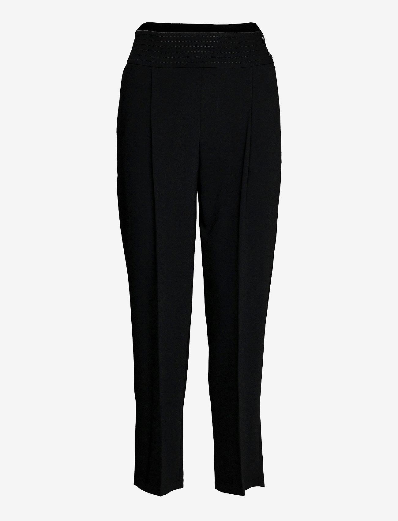 See by Chloé - TROUSERS - broeken med straight ben - black - 0