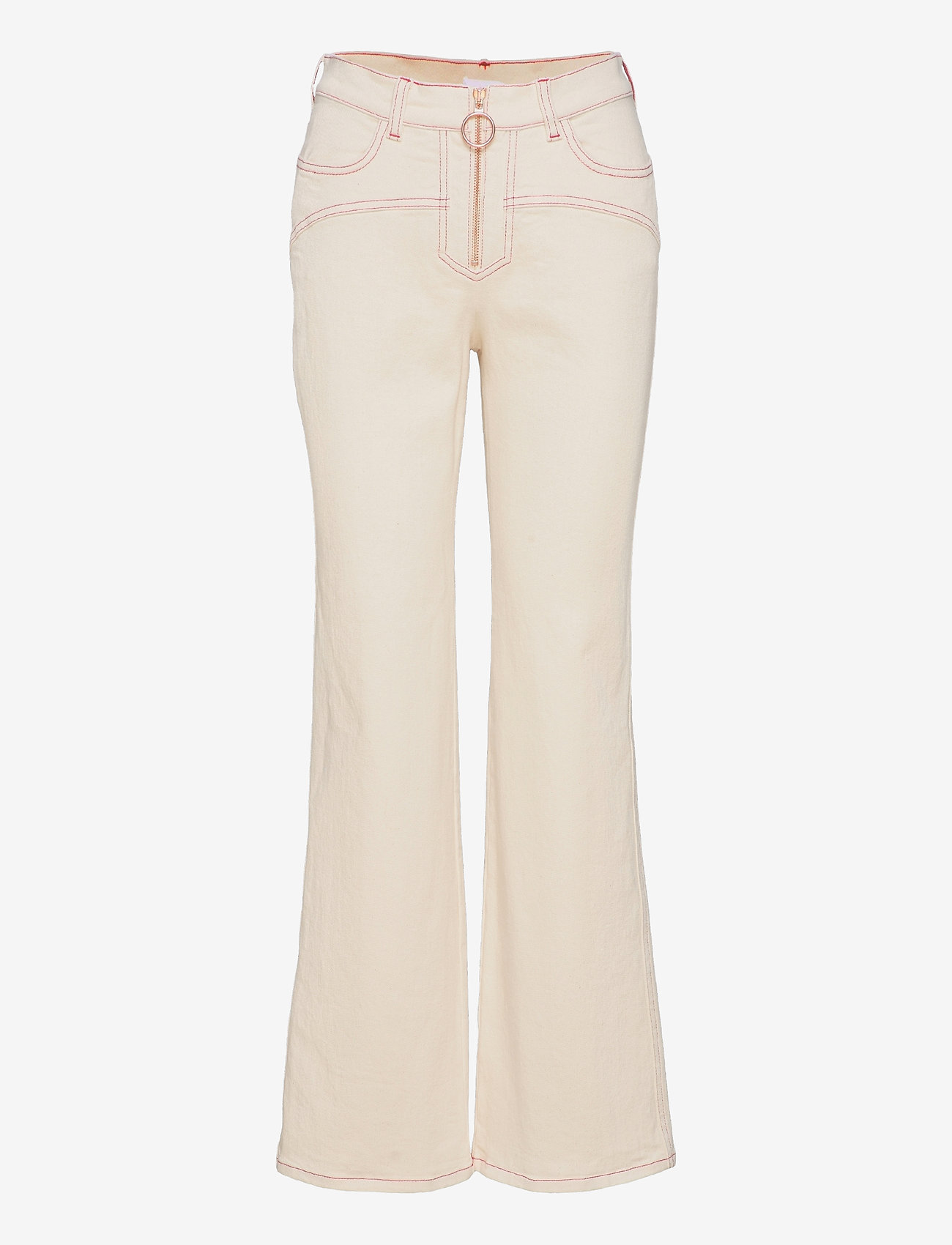 See by Chloé - TROUSERS - schlaghosen - buttercream - 0