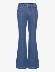 TROUSERS - schlaghosen - truly navy