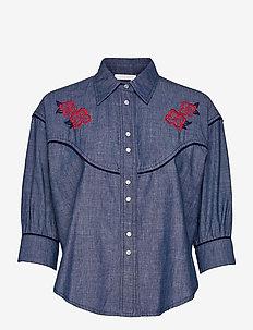 TOP - jeanshemden - faded indigo