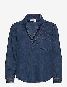 TOP - jeanshemden - harbor blue