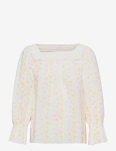 TOP - langærmede bluser - multicolor white 1