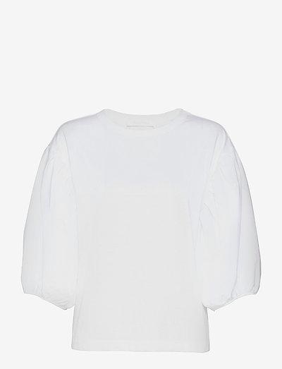 TOP - langermede bluser - white