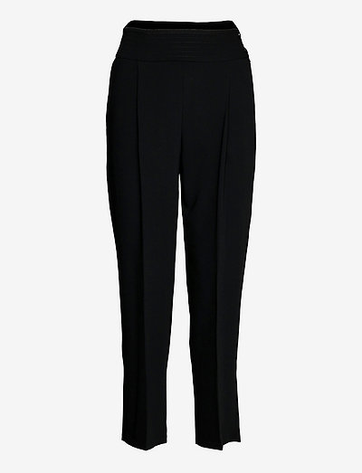TROUSERS - broeken med straight ben - black